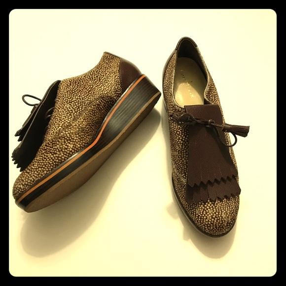 15531bf761 Cole Haan Shoes | New Calf Hair Platform Oxford Golf Shoe | Poshmark